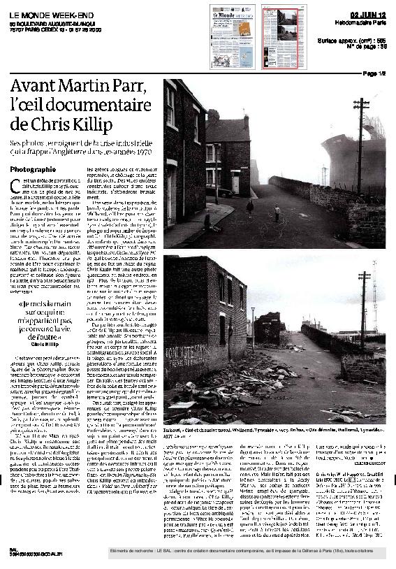 CHRISKILLIP, Le Monde, Claire Guillot, 2 juin 2012