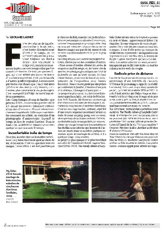 5ETRANGES, Libération, Edouard Launet, 5 février 2011