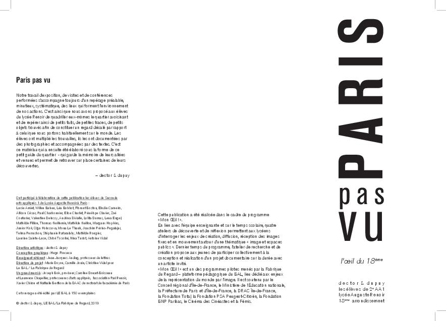 Paris pas vu ! (2012-2013)