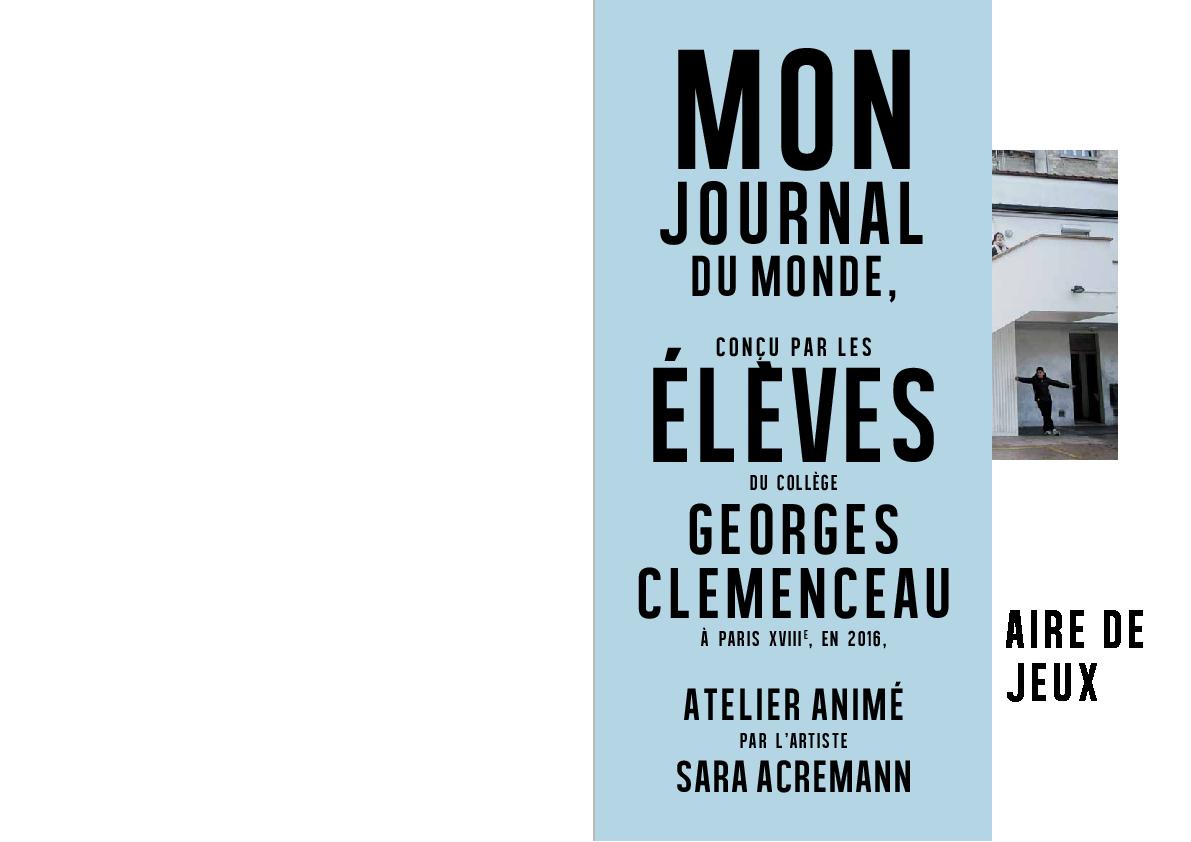 Mon Journal du Monde / Aire de jeux (2015-2016)