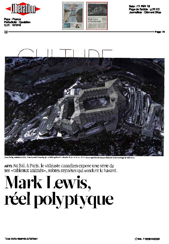 MARKLEWIS, Libération, Clément Ghys, 11 février 2015